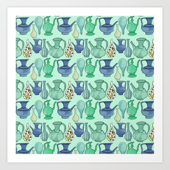 Persian Pots Art Print