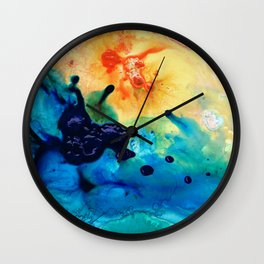 Modern Colorful Abstract Art - Blue Waters - Sharon Cummings Wall Clock