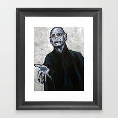 He Who Must Not Be Named Framed Art Print