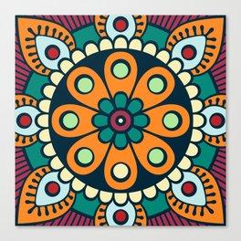 Mandala artwork, Colorful mandala flower No3 Canvas Print