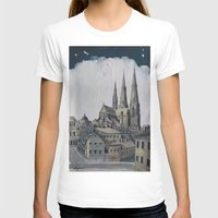 sweden T-shirts featuring Uppsala Sweden by Alejandro D