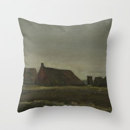 Cottages Throw Pillow