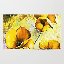 BIG YELLOW FLOWERS Rug