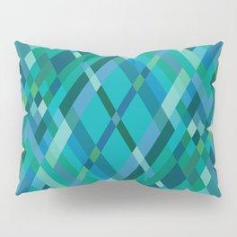 Blue Green Harlequin Pattern Pillow Sham