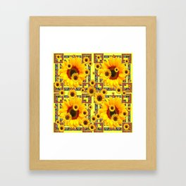KANSAS WESTERN STYLE YELLOW SUNFLOWER FLORAL Framed Art Print