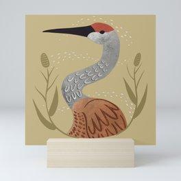 Sandhill Fraiser Crane Mini Art Print