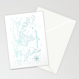 Where We've Been, World, Icy Blue Stationery Cards