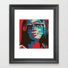 Portrait in Red Framed Art Print