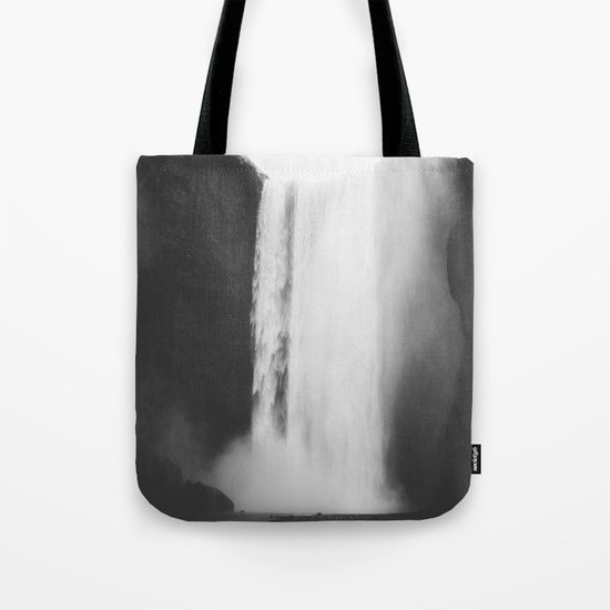 Black waterfall Tote Bag