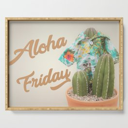 Aloha Friday Cactus Serving Tray