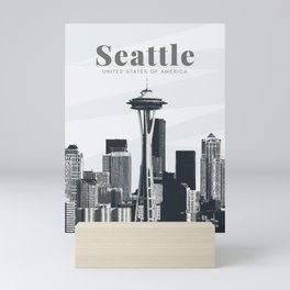 Seattle Space Needle United States Mini Art Print