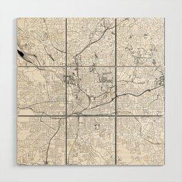 Atlanta White Map Wood Wall Art
