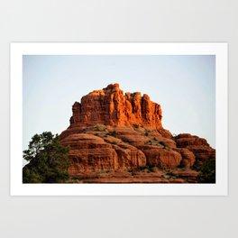 Bell Rock At Sunrize Art Print