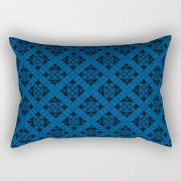Lapis Blue Patchwork Rectangular Pillow