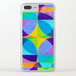 The Cross of Light Effect Clear iPhone Case