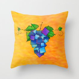 Jamurissa - square grapes Throw Pillow