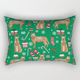 Australian Cattle dog christmas presents stockings candy canes winter dog breed lover Rectangular Pillow
