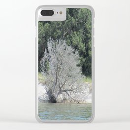 The Skeleton Tree on the Beach Clear iPhone Case