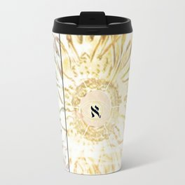 Tricolor Aleph Mandala Travel Mug