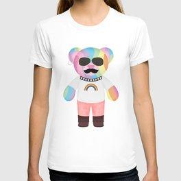 Punk Rainbow Bondage Bear Full T-shirt