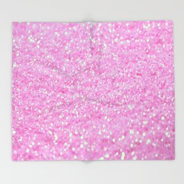 Pink Glitter Throw Blanket