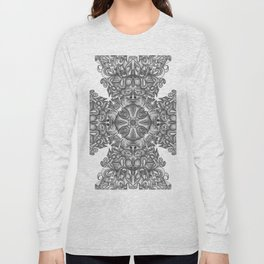 black, white and gray  Long Sleeve T-shirt