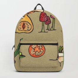 Vegetable Mushrooms food pattern Backpack
