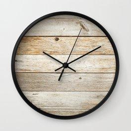 Rustic Barn Board Wood Plank Texture Wall Clock
