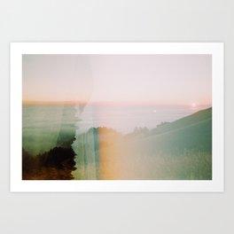 Moody Mountain Double Exposure - 35mm Film Art Print