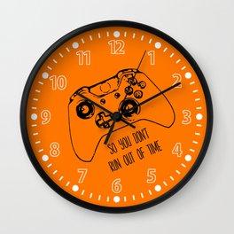 Video Game Orange Wall Clock