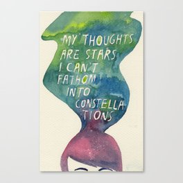 Thoughts Are Constellations Canvas Print