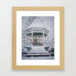 Gazebo in the Snow Framed Art Print