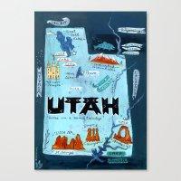 utah Canvas Prints featuring UTAH by Christiane Engel