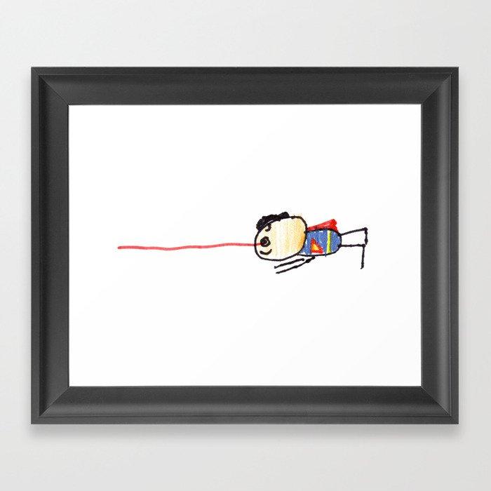 Superhero 4 Framed Art Print