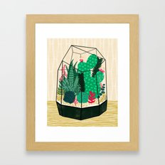 Terrarium - Geodesic Plant for Succulents and Cactus by Andrea Lauren Framed Art Print
