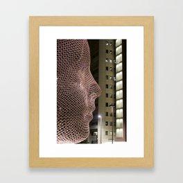 Head and lights Calgary Framed Art Print