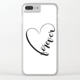 Love Forever Clear iPhone Case