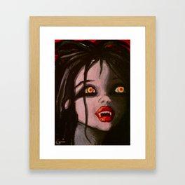 Young Vampire Girl Framed Art Print