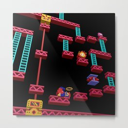 Inside Donkey Kong stage 3 Metal Print
