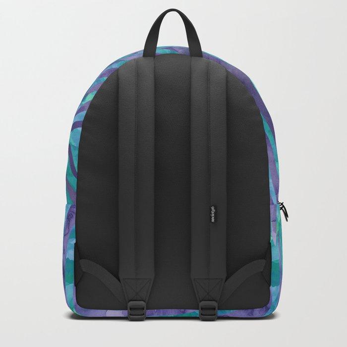 Blue Zebra Print Backpack