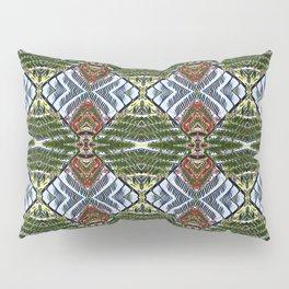 Royal Poinciana Fronds Diamond OP Pattern Pillow Sham