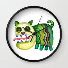 Screaming Kitty Wall Clock