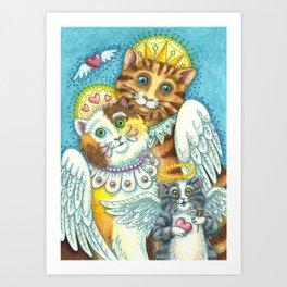 PURRS IN HEAVEN Art Print