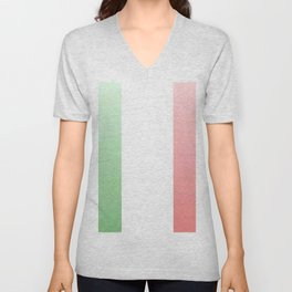 flag of Italy -with color Gradient Unisex V-Neck