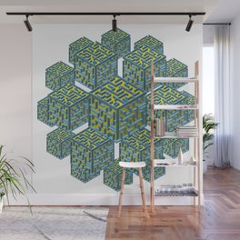 Cubed Mazes Wall Mural