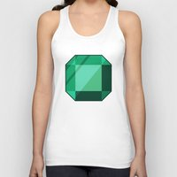 emerald Tank Tops featuring Emerald by creativeesc