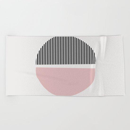 Minimalist Abstract Beach Towel