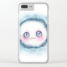 fluffy kawaii Clear iPhone Case