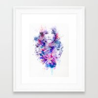 water colour Framed Art Prints featuring Water Colour by Ben Fearnley