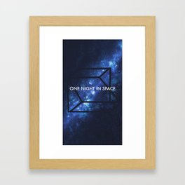One night in space. Framed Art Print